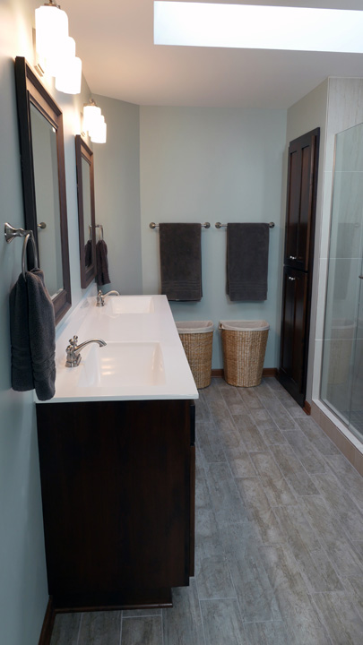 Remodel Bathroom Mn real home remodel: eagan master bathroom breaks free from the