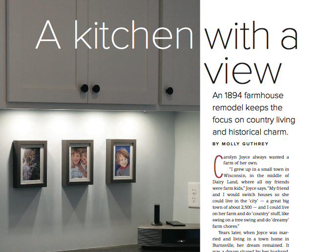 Spaces Magazine Twin Cities Featuring J Carsten Remodeling Northfield Farmhouse