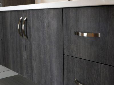 grey-black bathroom vanity